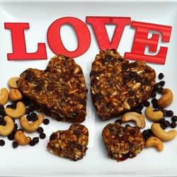 Valentine's cut plant based treat breakfast date energy bars