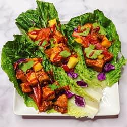 Thai tempeh lettuce wraps square