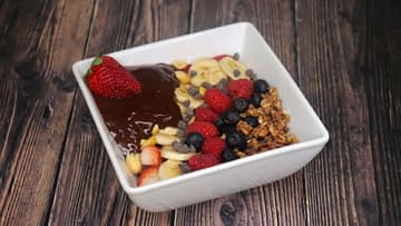 Whipped Coffee Chocolate Bowl with Coconut Milk