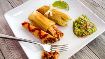 vegan tamales with jackfruit carnitas
