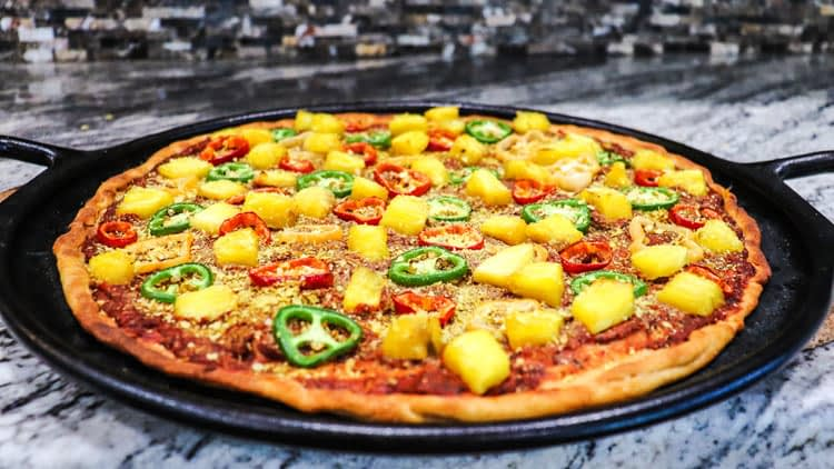 Pineapple Habanero Jalapeno Chili Pepper Vegan Pizza