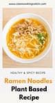 a plate of ramen noodles soup