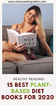 Caitlin with plant-based diet book