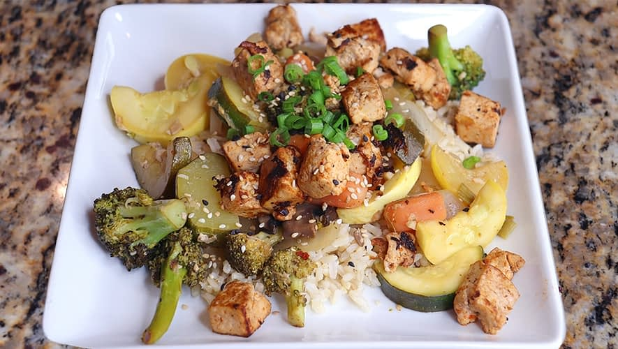 Asian tofu stir fry