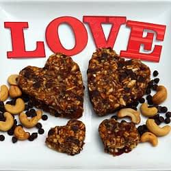 Valentine's cut plant based treat breakfast date energy bars