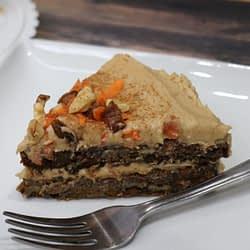 A piece Beet Date Carrot Cake – Vegan & Gluten-Free