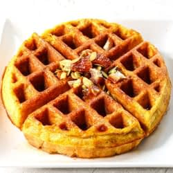 pumpkin spice waffle square