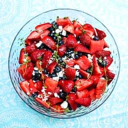 watermelon berry lemon thyme salad