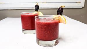 Frozen Blackberry Honey Lemonade