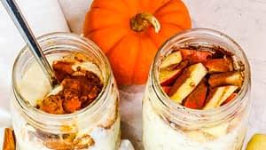 Apple Cinnamon Overnight Oats Parfait