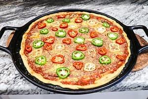 Preparing Pineapple Pepper Plant-based Pizza