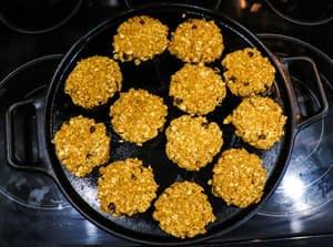 pressed down pumpkin oatmeal cookies
