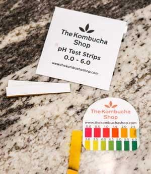 test pH of kombucha tea