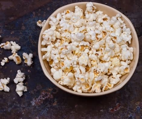 popcorn portioned in a bowl