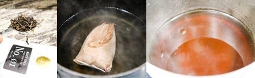 steeping black tea to make kombucha