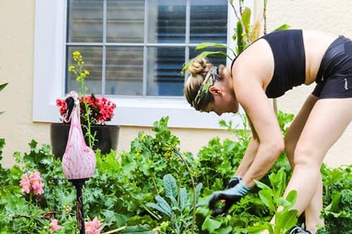 Me working in my garden