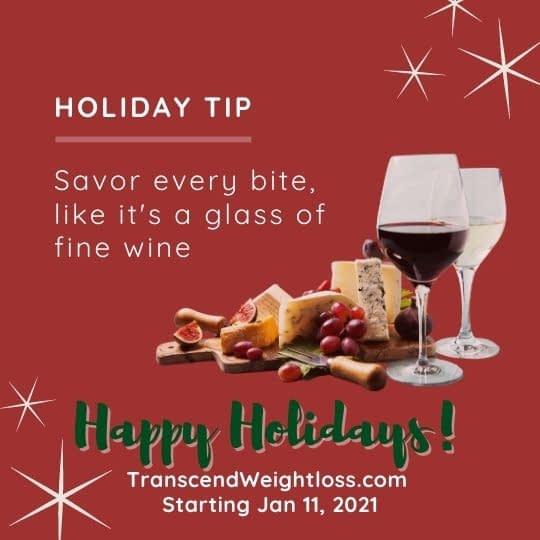 savor each bite mindful eating holiday tip