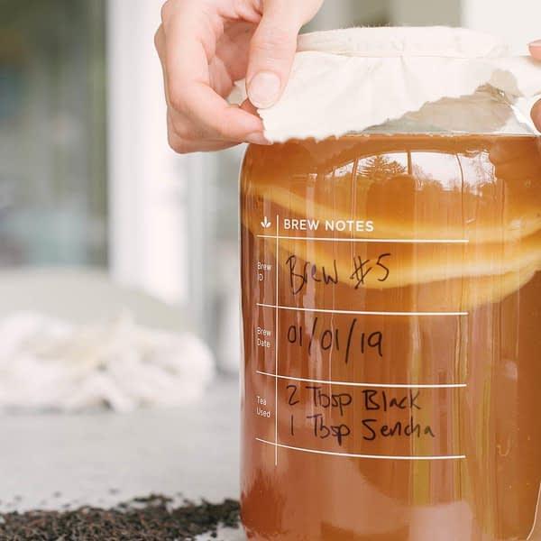 Kombucha Brewing Kit, One gallon - label side