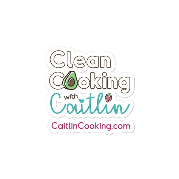 "Logo on which it is written ""Clean cooking with Caitlin"" CaitlinCooking.com"