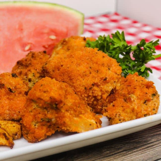 Crispy air fryer buffalo cauliflower