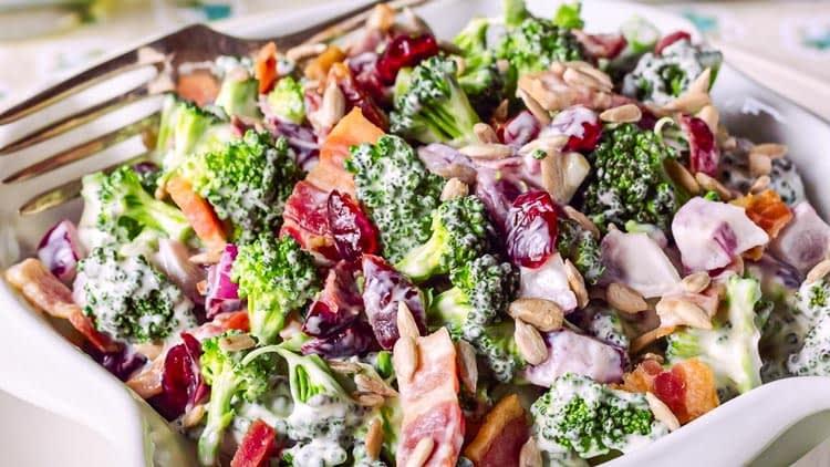 lighter broccoli salad