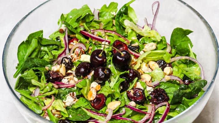 cherry gorgonzola salad