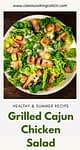 a plate of cajun chicken salad