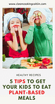 2 children cooking plant based meals