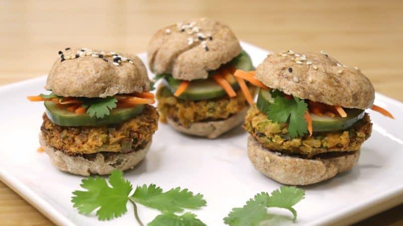 Edamame Banh Mi Sliders Vietnamese Vegetarian Recipe