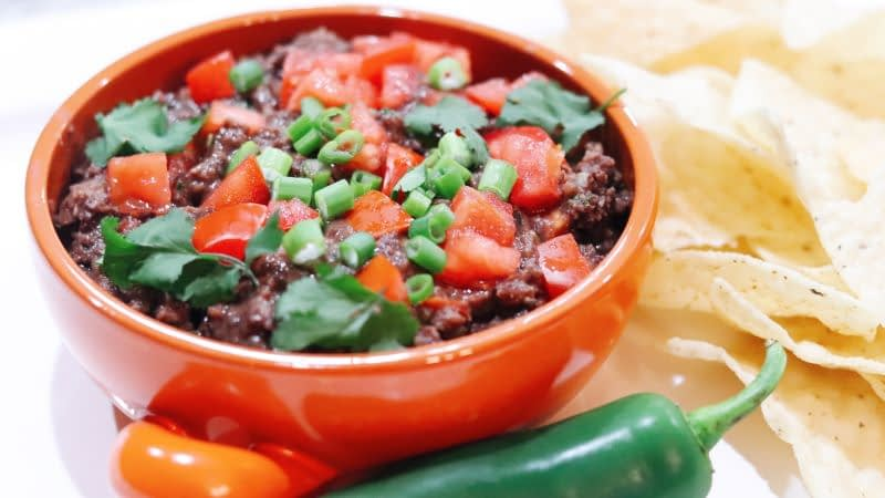 Black Bean spicy dip wide