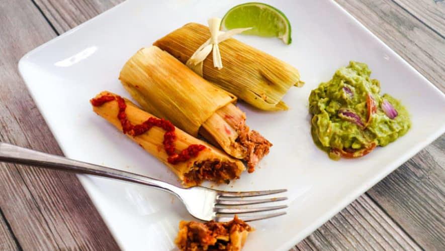 vegan tamales with jackfruit carnitas
