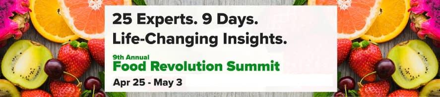 Food Revolution Summit 2020 banner