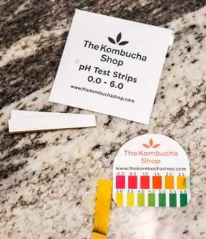 test pH of kombucha tea