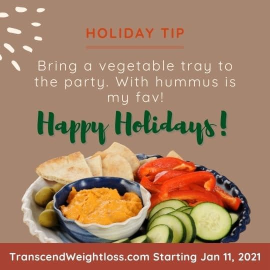 Bring a vegetable tray to the party holiday christmas party tip